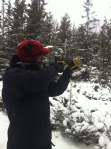 Target practice with the BB Gun.
